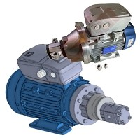 VARIABLE DISPLACEMENT ELECTRIC PUMP for AERIAL PLATFORMS